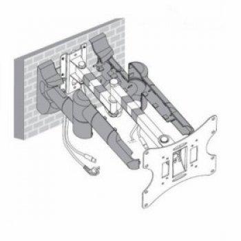 Forgatható és dönthető fali TV tartó konzol HS-0043A-S