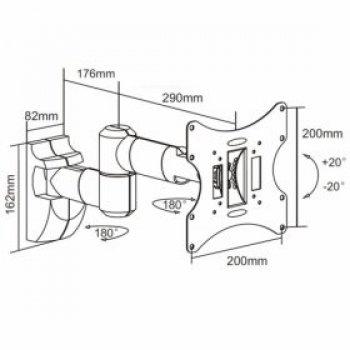 Forgatható és dönthető fali TV tartó konzol HS-0043A