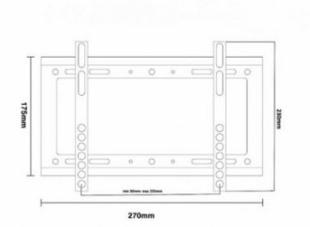 MC-698televízió tartó falra