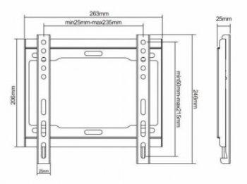 HS-0150 televízió tartó falra