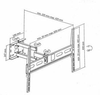 HS-0199-1 TV tartó konzol